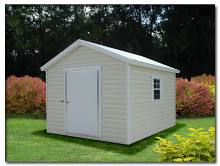 Aluminum siding for a shed